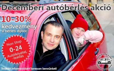 decemberi autóbérlés akció